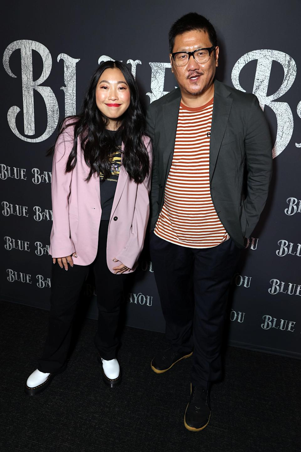 Awkwafina and Benedict Wong - Credit: Eric Charbonneau