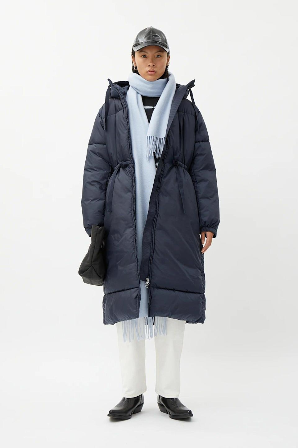 """<br><br><strong>Weekday</strong> Ally Long Puffer Jacket, $, available at <a href=""""https://www.weekday.com/en_gbp/women/jackets-coats/product.ally-long-puffer-jacket-blue.0921249002.html"""" rel=""""nofollow noopener"""" target=""""_blank"""" data-ylk=""""slk:Weekday"""" class=""""link rapid-noclick-resp"""">Weekday</a>"""