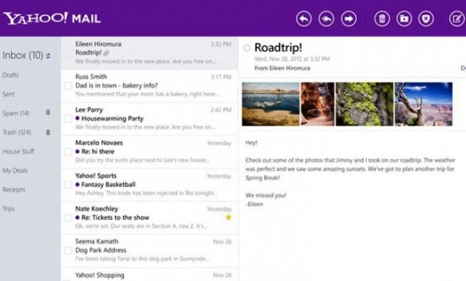 Yahoo Mail is now available for your Windows 8 desktop and tablet.