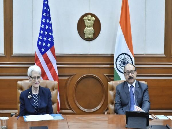 Dy Secy Sherman speaks about US-India relationship, Quad, Indo Pacific region with Shringla at India Ideas Summit (Photo Credit: Twitter)