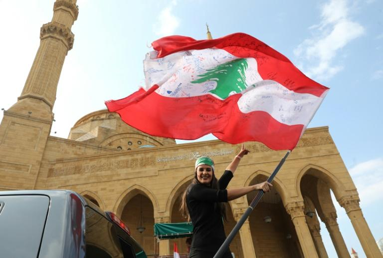 Several mass rallies are planned for Sunday in cities across Lebanon to keep up the pressure on the country's rulers (AFP Photo/ANWAR AMRO)