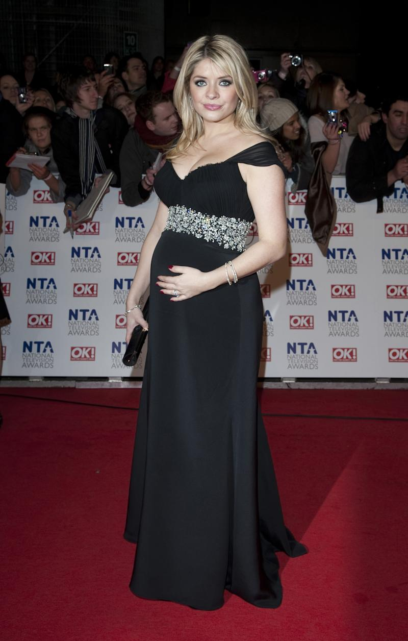 Holly Willoughby Arriving For The 2011 National Television Awards At The O2 Arena, London. (Photo by Mark Cuthbert/UK Press via Getty Images)