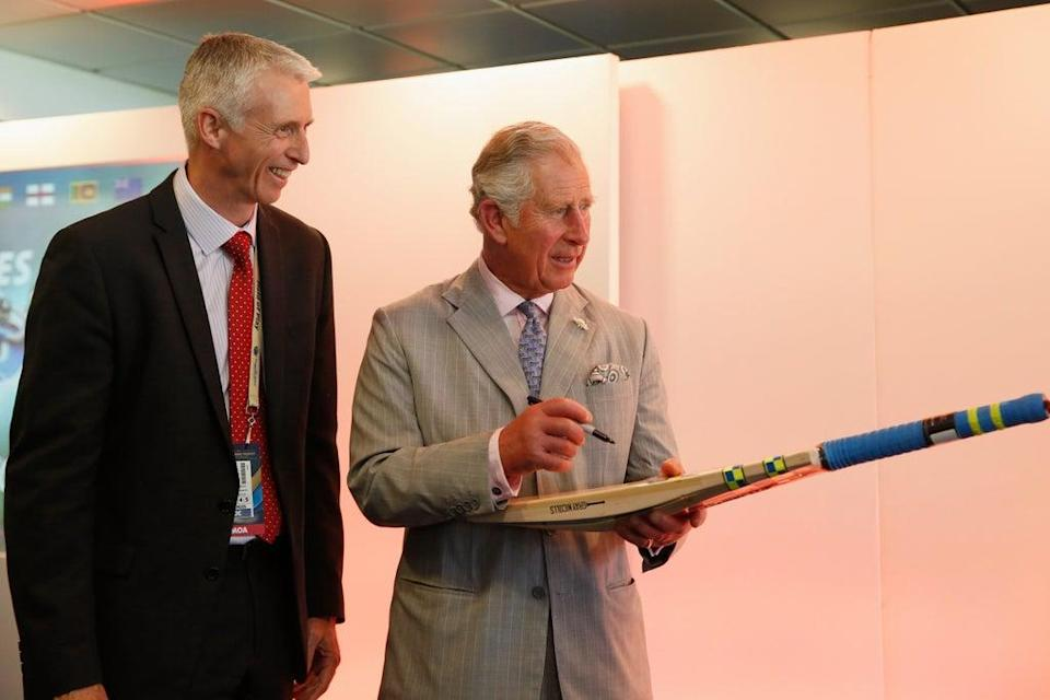 Steve Elworthy with Prince Charles (Getty Images)