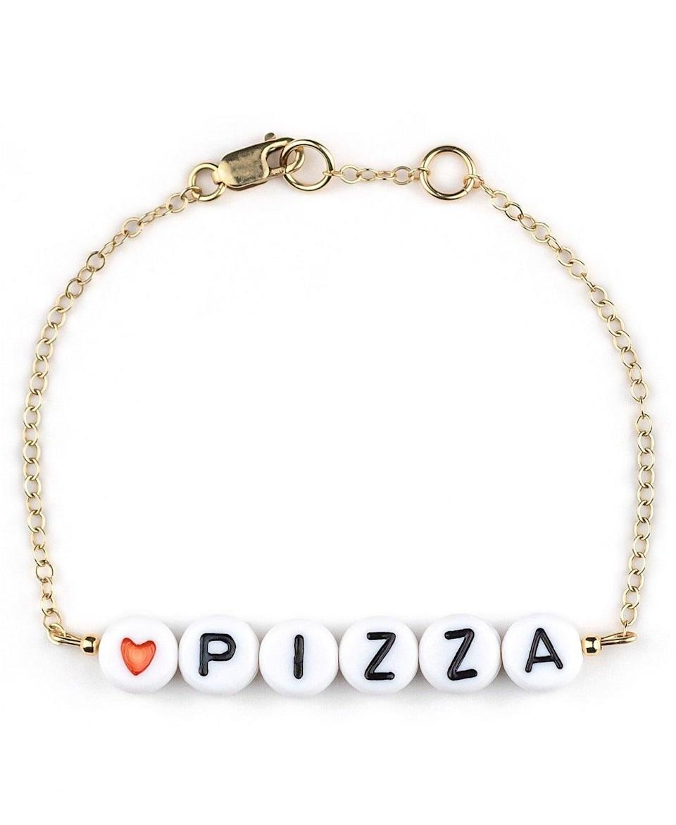 <p>The <span>Ryan Porter Pizza 18k Gold Plated Bracelet</span> ($28) is such a trendy find that is perfect for stacking. They can wear this everyday!</p>