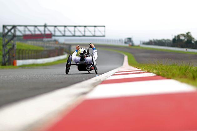OYAMA, JAPAN - AUGUST 31:  Paolo Cecchetto of Team Italy during the Men's H3 Road Race Time Trial on day 7 of the Tokyo 2020 Paralympic Games at Fuji International Speedway on August 31, 2021 in Tokyo, Japan. (Photo by Dean Mouhtaropoulos/Getty Images) (Photo: Dean Mouhtaropoulos via Getty Images)