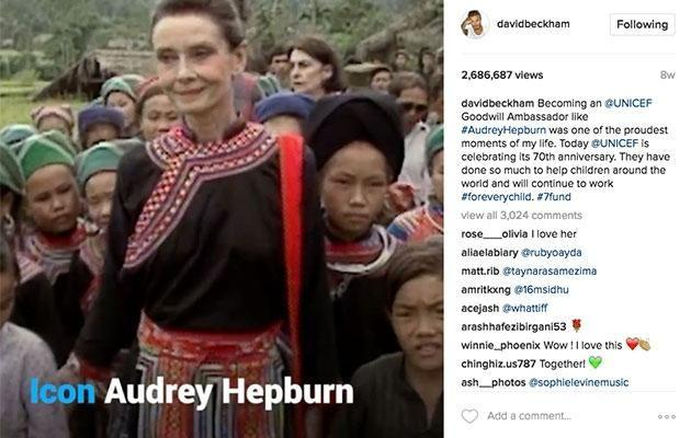 Becks shared this short clip of the actress eight weeks ago. Source: Instagram