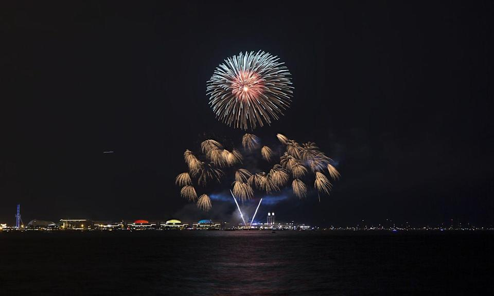 """<p><strong>Chicago, Illinois</strong><br></p><p>You'll be thrilled by the Independence Day fireworks over Lake Michigan at Chicago's <a href=""""https://www.fireworkscalendar.com/chicago/#fourth-of-july"""" rel=""""nofollow noopener"""" target=""""_blank"""" data-ylk=""""slk:Navy Pier"""" class=""""link rapid-noclick-resp"""">Navy Pier</a> this July 4th.<br></p>"""