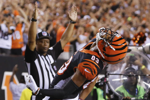 Tyler Boyd is looking like a starting-quality fantasy receiver. (AP Photo/Frank Victores)