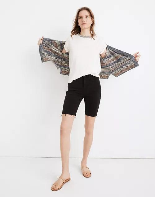 <p>The <span>Madewell Roadtripper Biker Shorts in Lunar Wash</span> ($65) may look like black denim shorts, but they're just as soft and stretchy as your favorite bike shorts, too.</p>