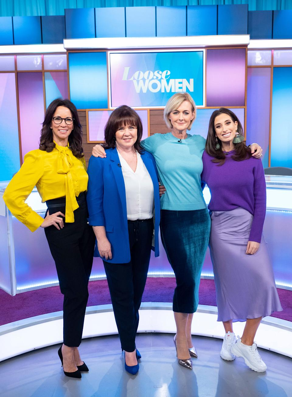 Andrea McLean with 'Loose Women' co-stars Coleen Nolan, Jane Moore and Stacey Solomon. (ITV)