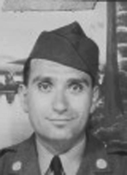 This undated image provided by Hyla Merin shows 2nd Lt. Hyman Markel. Markel was a rabbi's son, brilliant at mathematics, the brave winner of a Purple Heart who died in 1945. Markel was killed on May 3, 1945, in Italy's Po Valley while fighting German troops as an officer with the 88th Division of the 351st Infantry Regiment. (AP Photo/Hyla Merin)
