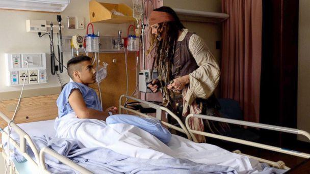 PHOTO: Patients at BC Children's Hospital were delighted by a visit with actor Johnny Depp, dressed as his character Captain Jack Sparrow, Aug. 15, 2017, in Vancouver, British Columbia. (BC Children's Hospital Foundation)