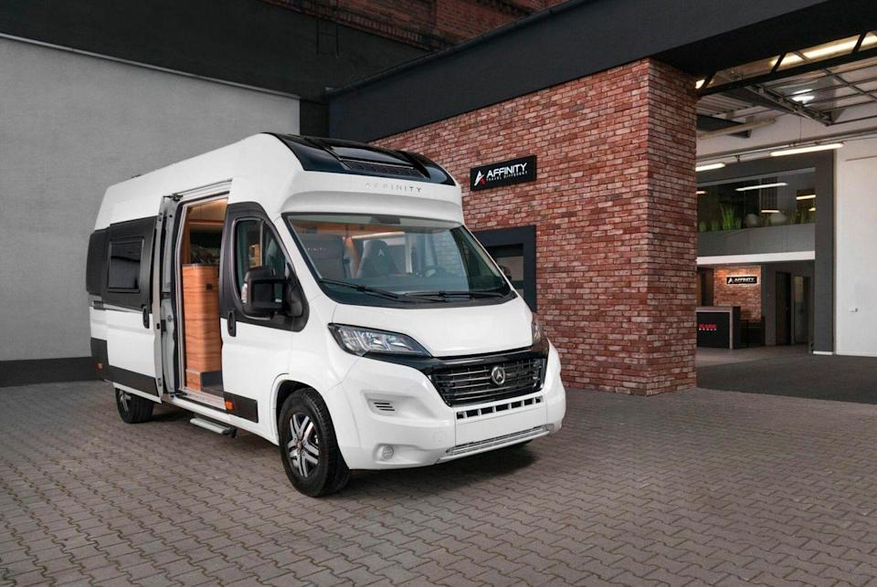 """<p>You've probably never heard of the Polish company Affinity. We hadn't either — at least, until they unveiled their new camper van at the 2020 CMT Show in Stuttgart. Sleek and modern, Affinity's new ride has one of the best layouts for a camper van we've ever seen.</p><p><a class=""""link rapid-noclick-resp"""" href=""""https://www.gearpatrol.com/cars/a679867/best-luxury-camper-van-affinity/"""" rel=""""nofollow noopener"""" target=""""_blank"""" data-ylk=""""slk:LEARN MORE"""">LEARN MORE</a></p>"""