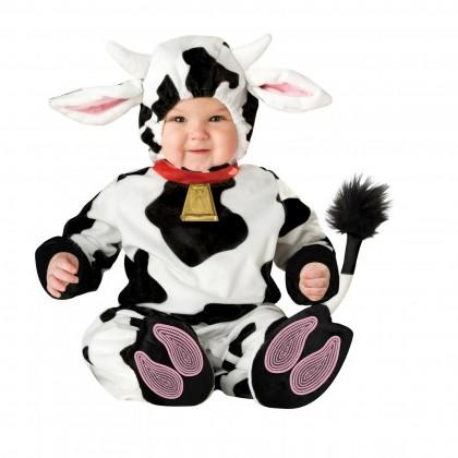 """<div class=""""caption-credit""""> Photo by: Rakuten.com</div><div class=""""caption-title"""">Baby Cow</div>This <a rel=""""nofollow"""" href=""""http://www.rakuten.com/prod/baby-cow-infant-farm-animal-costume-12-18-mos/217315601.html"""" target=""""_blank"""">zippered jumpsuit</a> includes slip-on booties and a hood with ears and horns, plus a soft cowbell -- ring in the cuteness! Sizes: 6 months to 2T Price:$38.99 <br> <br> <b><i><a rel=""""nofollow"""" href=""""http://www.babyzone.com/showers-and-parties/holidays/halloween/13-one-minute-halloween-costumes-for-your-baby_12906310?cmp=ELP