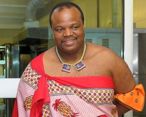 King Mswati III of Swaziland pictured during his visit to Taylor's University near Kuala Lumpur on July 3, 2013