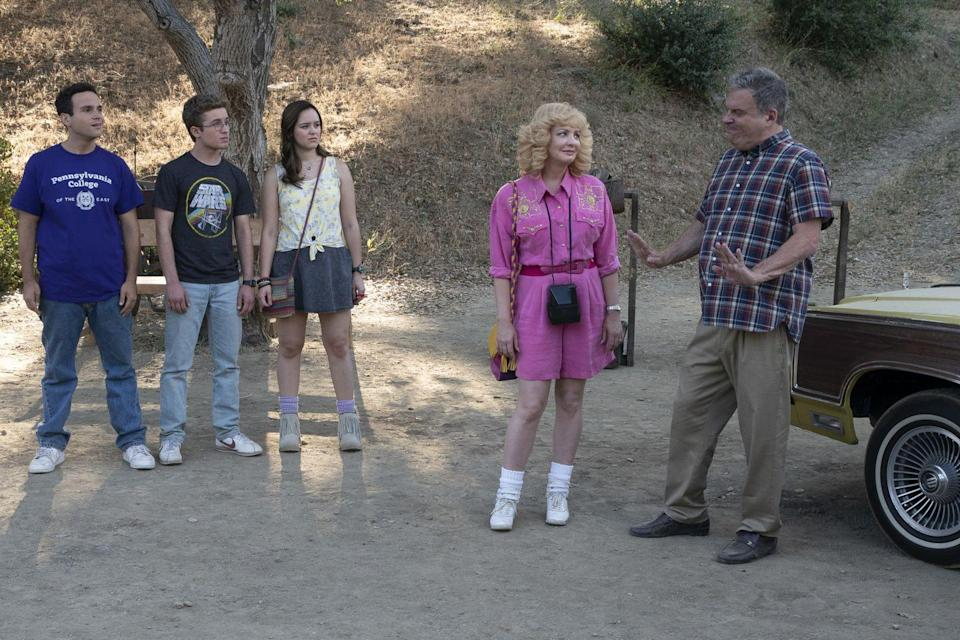 """<p>It's rumored that season eight of the ABC family sitcom, <em>The Goldbergs</em>, <a href=""""https://www.slashfilm.com/the-goldbergs-season-8-premiere-pays-tribute-to-airplane-comic-con-2020/"""" rel=""""nofollow noopener"""" target=""""_blank"""" data-ylk=""""slk:will feature a bombshell"""" class=""""link rapid-noclick-resp"""">will feature a bombshell</a> that was supposed to drop during the season seven finale. However, a delay in production caused the storyline to be pushed back to season eight. As for the show's spinoff, <em>Schooled</em> was canceled in May after just two seasons. </p>"""
