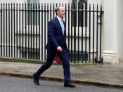 Members of Britain's cabinet meet at Downing Street in London