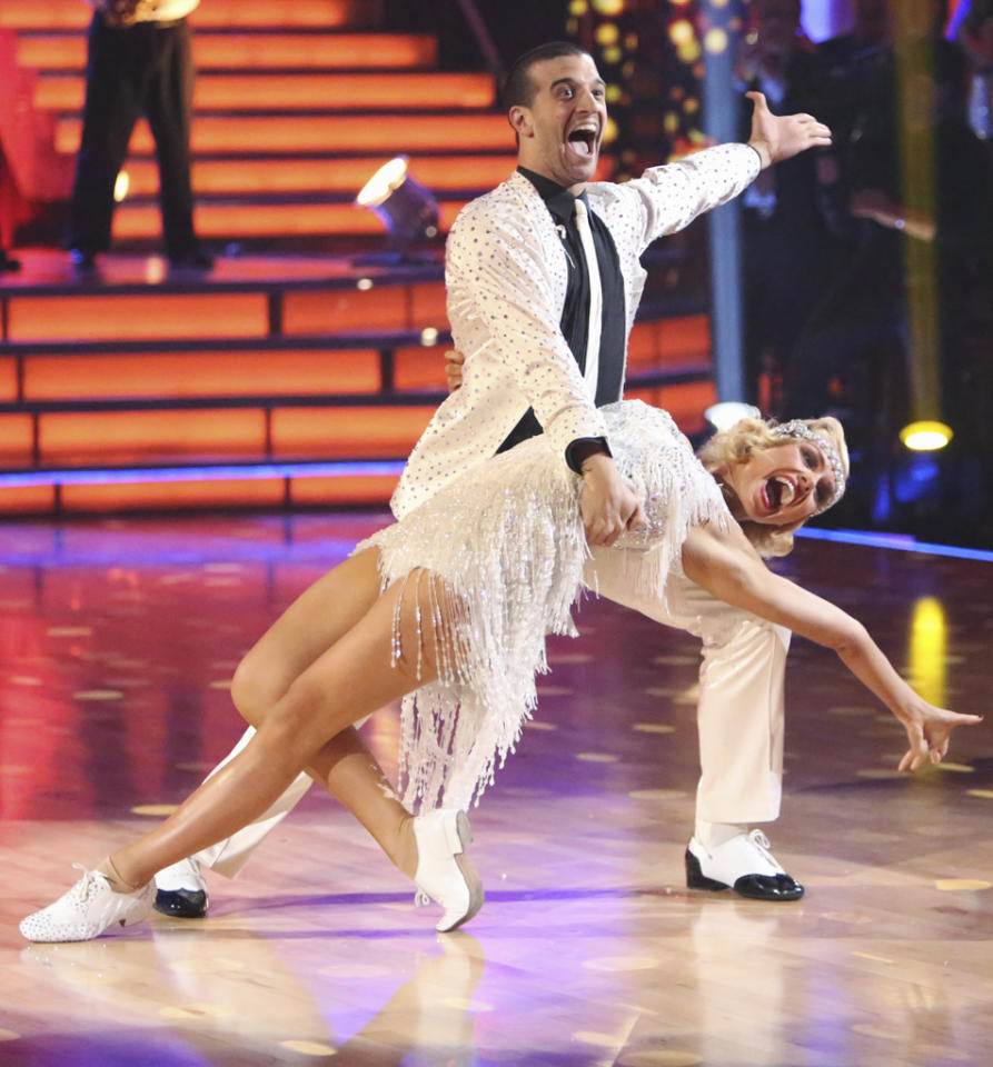 "Mark Ballas and Katherine Jenkins perform on ""Dancing with the Stars."""