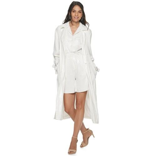 Consider your next night-out look sorted— thanks to this fab sequin trench. (Photo: Kohl's)