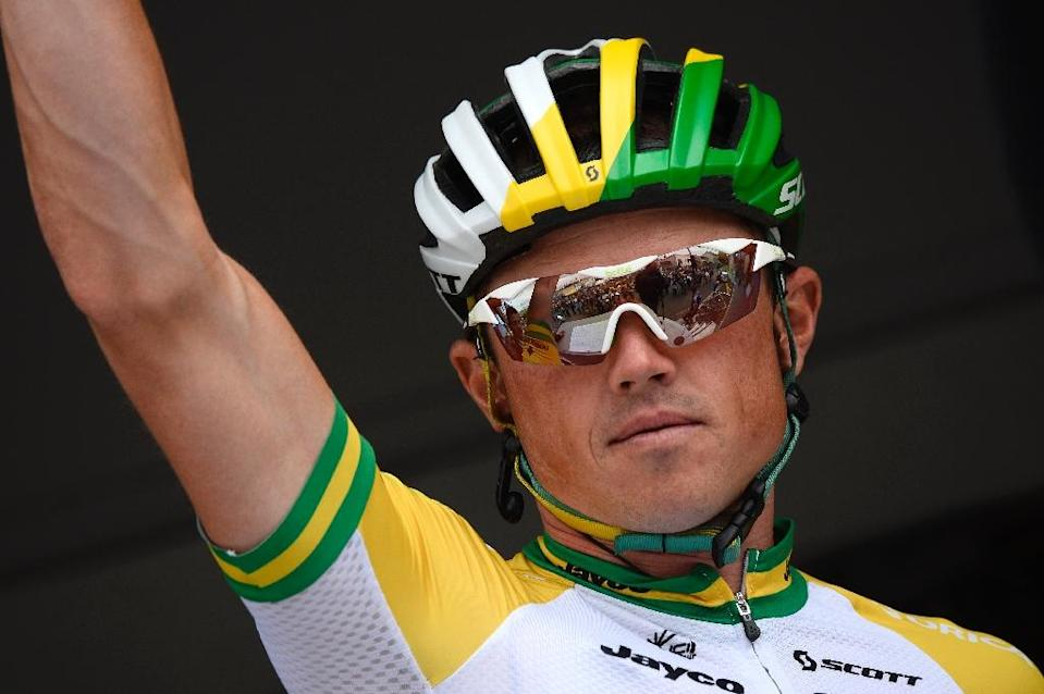 Australia's Simon Gerrans, pictured during the 101st edition of the Tour de France cycling race, in Tomblaine, in July 2014 (AFP Photo/Lionel Bonaventure)