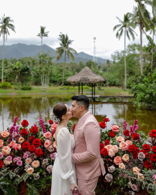 The couple tied the knot at The Farm, San Benito