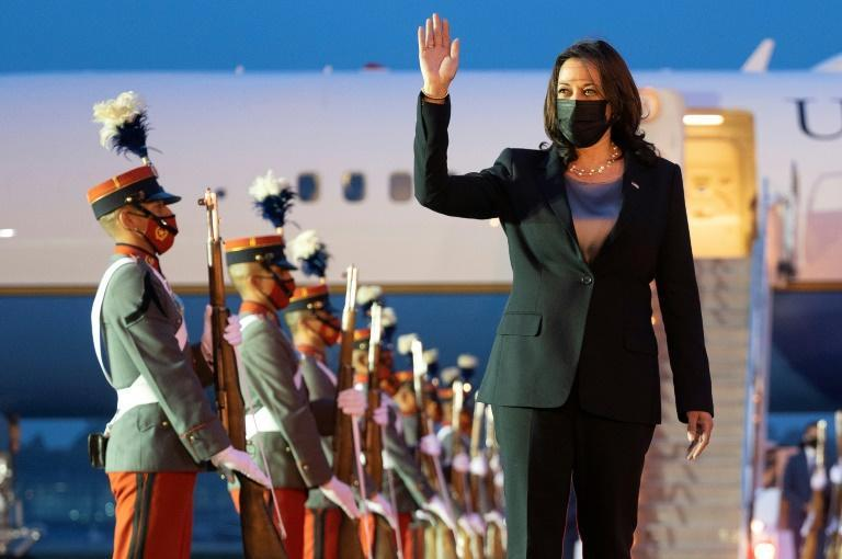 US Vice President Kamala Harris flew to Guatemala City -- her first stop on her debut international mission as second in command to US President Joe Biden -- to discuss the root causes of illegal migration