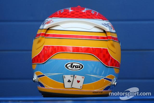 "Casco de Fernando Alonso en 2009 <span class=""copyright"">XPB Images</span>"