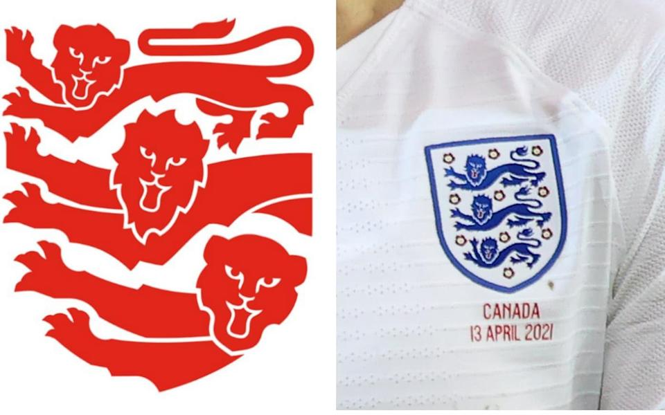 England football badges -Who's offended by a Lion? Backlash after FA launch new badge