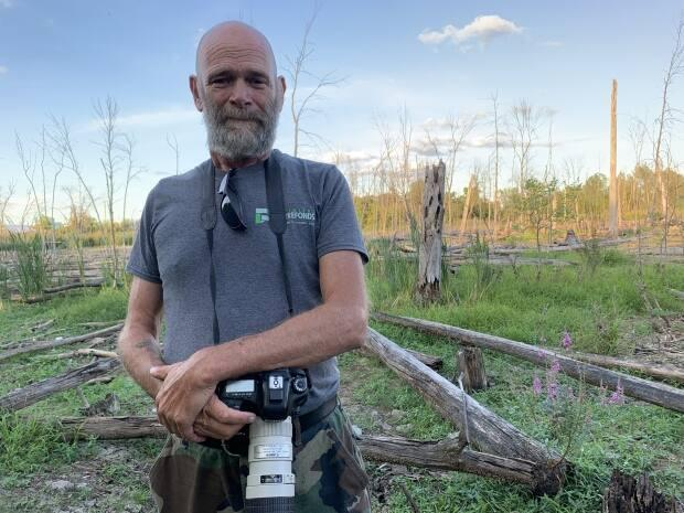 Graham Eady says he loves going to the Technoparc after work and on the weekends to photograph birds and other wildlife, but the place is changing. (Sharon Yonan-Renold/CBC - image credit)