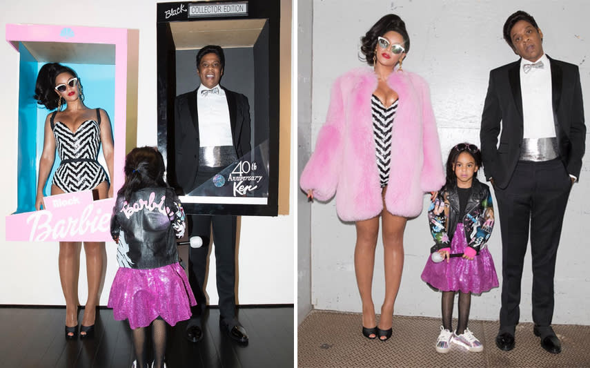 """<p>Queen Bey was a Barbie girl in a Barbie world with her Ken (Jay Z) and Skipper (Blue Ivy). The rapper's smile is pretty much everything. (Photos: <a rel=""""nofollow"""" href=""""https://www.instagram.com/p/BMQTZoXB5d-/?taken-by=beyonce&hl=en"""">Instagram</a>) </p>"""