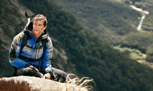 Bear Grylls encourages return to wild with back garden scout camp