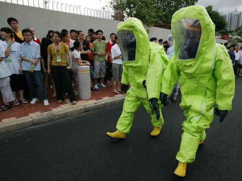 Hazmat scary invasion terrorism drill conspiracy