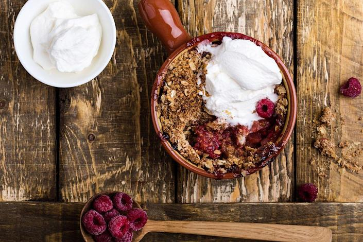 "<p>Most Americans eat 14 to 17 g of fiber per day; add just 10 g and reduce your risk of dying from heart disease by 17%, according to a Netherlands study. Dietary fiber helps reduce total and LDL (""bad"") cholesterol, improve insulin sensitivity, and boost weight loss.<br>One easy fix: Top your oatmeal (½ cup dry has 4 g fiber) with 1 cup of raspberries (8 g) and you get 12 g of fiber in just one meal. Other potent fiber-rich foods: ½ cup of 100% bran cereal (8.8 g), ½ cup of cooked lentils (7.8 g), ½ cup of cooked black beans (7.5 g), one medium sweet potato (4.8 g), one small pear (4.3 g). </p><p><strong>RELATED</strong>: <a href=""https://www.goodhousekeeping.com/health/diet-nutrition/a31028145/oatmeal-benefits/"" rel=""nofollow noopener"" target=""_blank"" data-ylk=""slk:Is Oatmeal Healthy? All the Nutritional Facts and Benefits to Know"" class=""link rapid-noclick-resp"">Is Oatmeal Healthy? All the Nutritional Facts and Benefits to Know</a></p>"