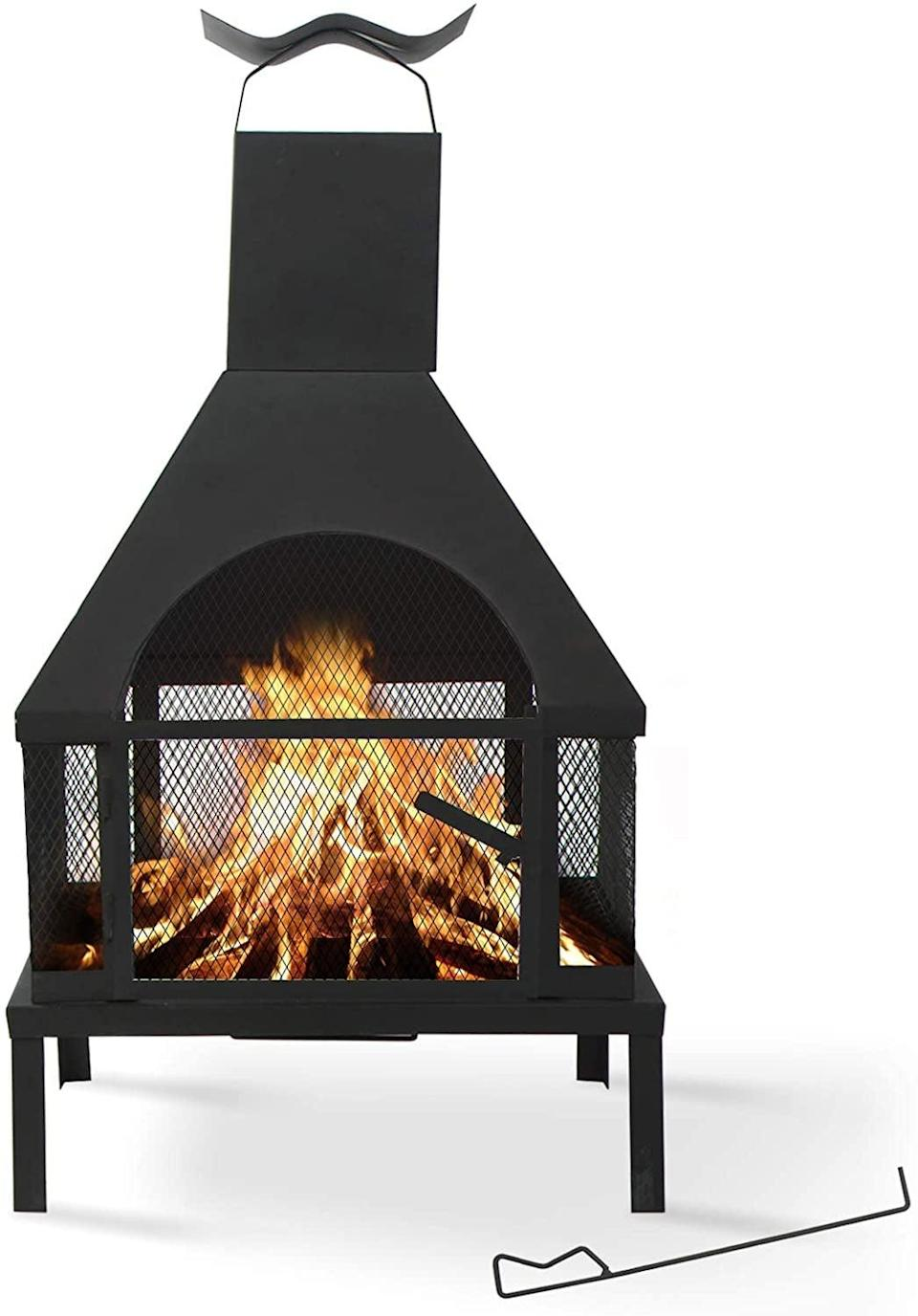 <p>You can stay warm for hours around this elegant <span>Large Portable Fire Pit</span> ($160).</p>
