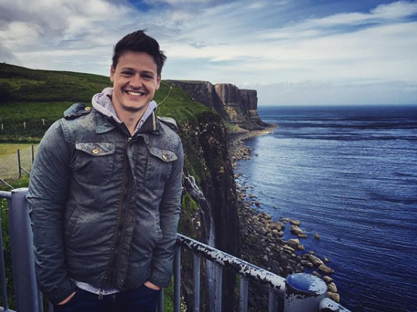 Matt Agnew poses on the Scottish Isle of Skye in an Instagram post published days before the finale.