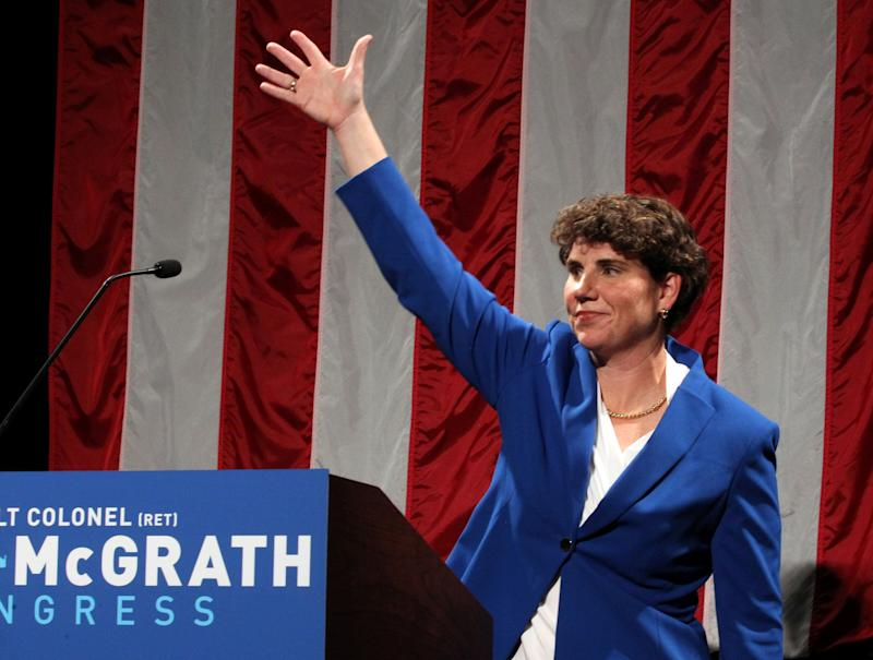 Amy McGrath defeated Charles Booker to win Kentucky's Democratic Senate primary in June. She will now face Senate Majority Leader Mitch McConnell in a high-profile November election. (Photo: John Sommers II/Reuters)