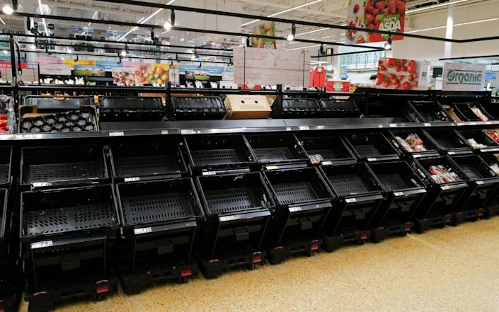 Some shops are running short of supplies as the pingdemic continues to bite - Matthew Horwood/Getty Images Europe