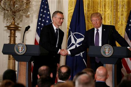 President meets with NATO secretary general at White House