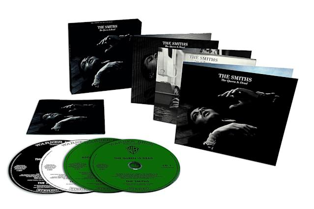 <p>Possibly Morrissey and Johnny Marr's finest hour, this 1986 album receives the deluxe treatment with a three-CD, one-DVD boxed set (there's also a two-CD version and a five-LP box). The original album has been remastered and packaged with a disc full of demos and outtakes. The third disc captures the Smiths performing live in 1986, with a set featuring <em>TQID</em> material and more. As with the R.E.M. release, hardcore fans will enjoy the peek behind the curtain provided by the demos and appreciate the energy of the live album. (Photo: Rough Trade Records) </p>