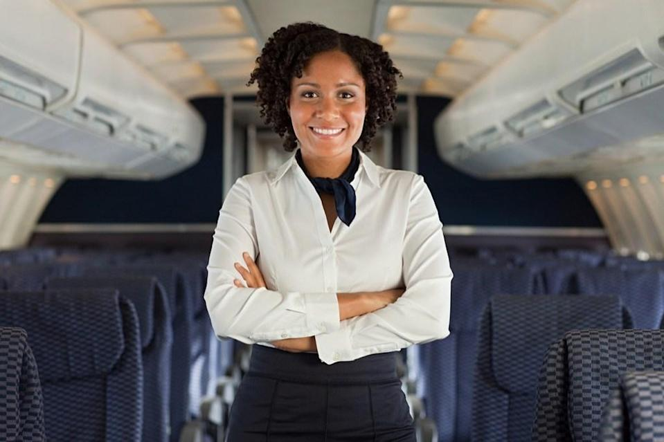 "<span>If flight attendants work on long-haul flights—which can last upwards of 12 hours—they need time to properly rest. So airlines have installed </span><a href=""https://www.youtube.com/watch?v=3Fl3J7uQU5Q"" rel=""nofollow noopener"" target=""_blank"" data-ylk=""slk:secret sleeping quarters"" class=""link rapid-noclick-resp""><span>secret sleeping quarters</span></a><span> above the main cabin with seven or eight beds, and occasionally a separate bathroom as well. They can also enjoy in-flight entertainment while inside these secret chambers. That must be how they keep up their cheery demeanor on those long flights.</span>"
