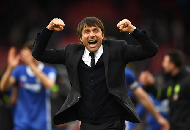 Antonio Conte won the Premier League his first season at Stamford Bridge. Will the Blues repeat? (Getty)