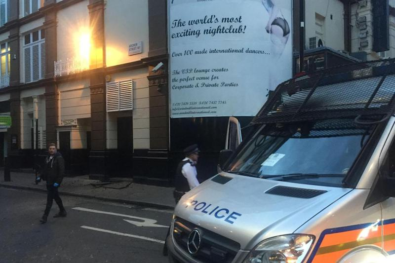 'Iconic club': Emergency services taped off swathes of Soho (Gulsen Burak)