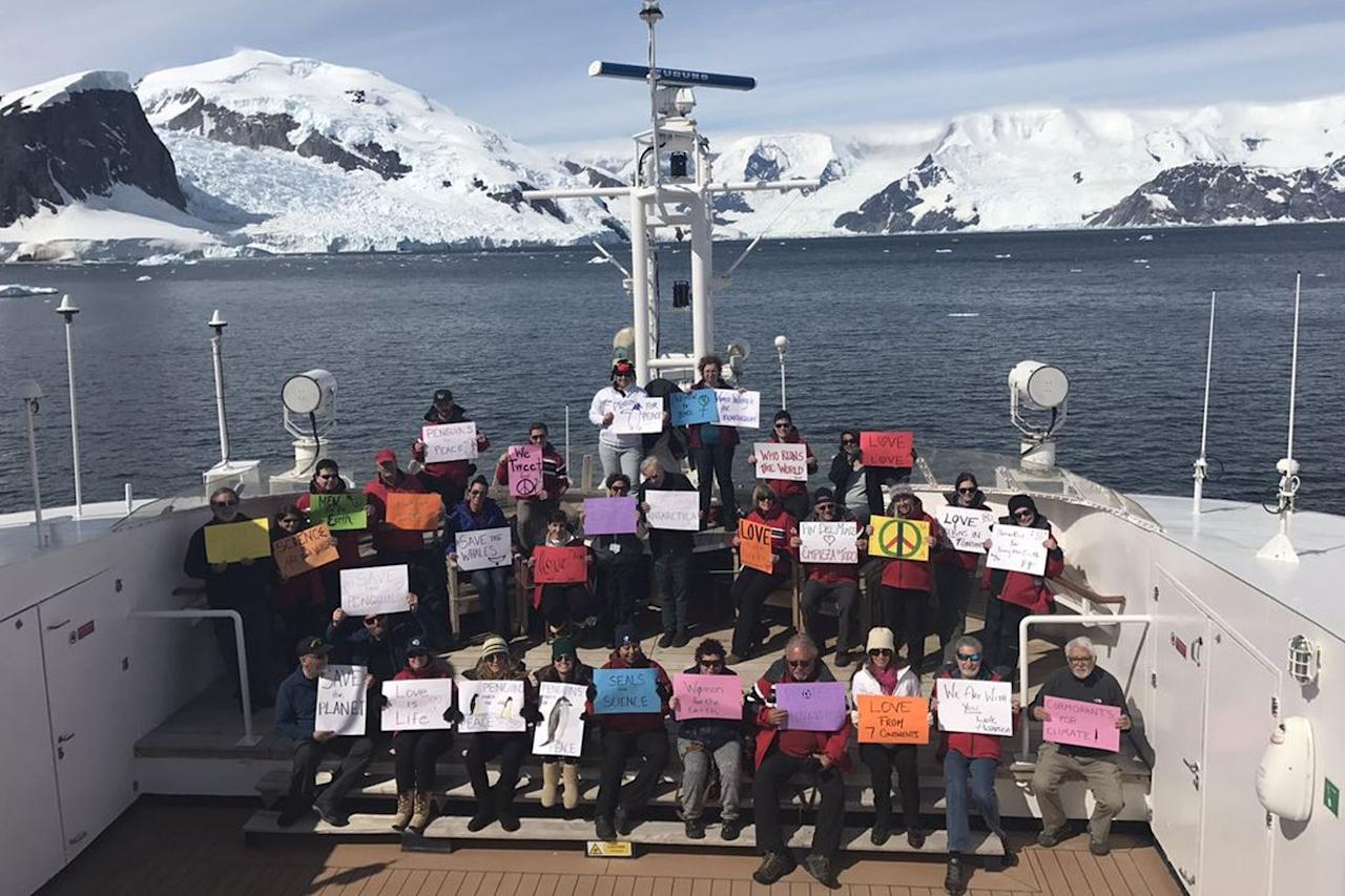 The Women's March movement is taking place on every continent, even Antarctica