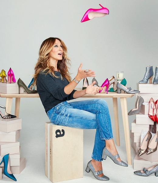 """<p>If SJP's """"Sex and the City"""" character was known for one thing, it was her incredible shoe collection. So no one was surprised with the TV star partnered with Nordstrom to create her own shoe line not long after the show wrapped. <i>(Instagram/<a href=""""https://www.instagram.com/sjpcollection/"""" rel=""""nofollow noopener"""" target=""""_blank"""" data-ylk=""""slk:sjpcollection"""" class=""""link rapid-noclick-resp"""">sjpcollection</a>)</i></p>"""