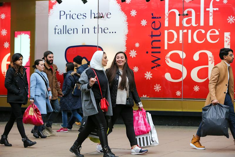 Tens of thousands of shoppers are seen taking advantage of post-Christmas bargains on Oxford Street during the Boxing Day sales (Photo: Dinendra Haria/SOPA Images/LightRocket via Getty Images)