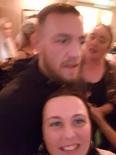 An image shared to Twitter reportedly show McGregor in a drunken state at the Irish pub. Pic: Twitter