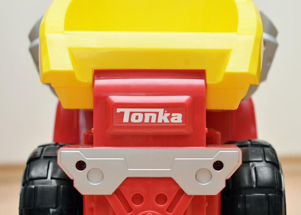 """""""Vancouver, Canada -- February 18, 2013:Close up of a Tonka brand truck on a wood floor."""