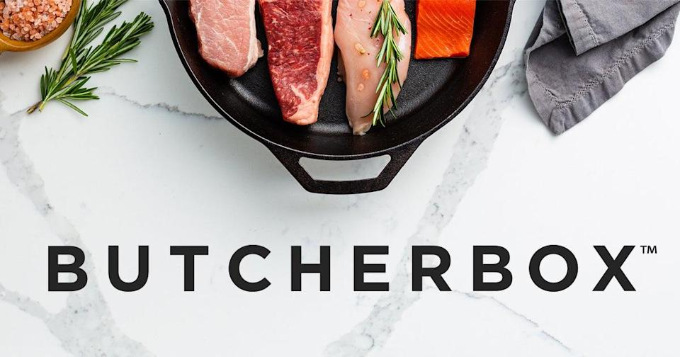 """<h3><h2>Butcher Box</h2></h3><br><strong>Grilling Subscription</strong><br>Get the grill-master what he wants most: a limited edition gift box of recurring monthly shipments of grass-fed beef, free-range chicken, and heritage pork just in time for cookout season. Each Butcher Box contains meat that is completely antibiotic and hormone-free.<br><br><em>Shop <strong><a href=""""https://www.butcherbox.com/"""" rel=""""nofollow noopener"""" target=""""_blank"""" data-ylk=""""slk:Butcher Box"""" class=""""link rapid-noclick-resp"""">Butcher Box</a></strong></em><br><br><strong>Butcher Box</strong> Mixed Box, $, available at <a href=""""https://go.skimresources.com/?id=30283X879131&url=https%3A%2F%2Fwww.butcherbox.com%2Fhow-it-works"""" rel=""""nofollow noopener"""" target=""""_blank"""" data-ylk=""""slk:Butcher Box"""" class=""""link rapid-noclick-resp"""">Butcher Box</a>"""