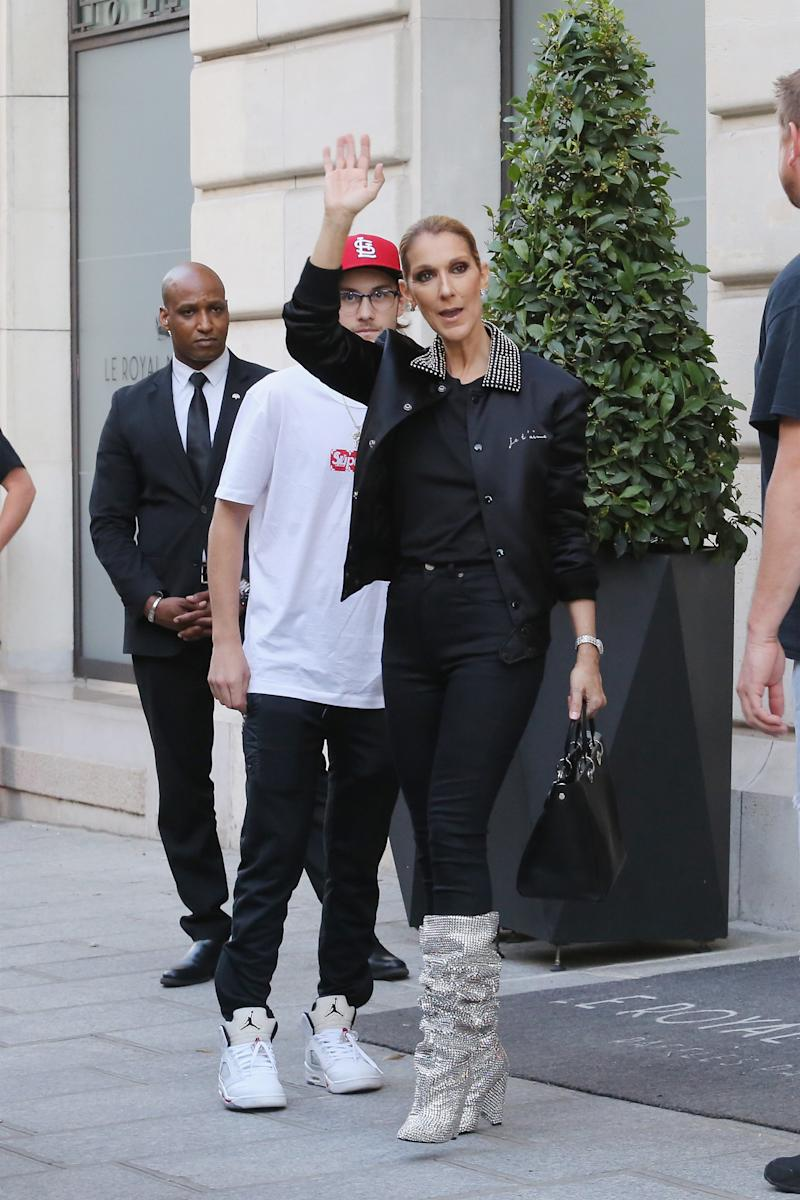 In July, Celine Dion wore the boots in Paris. (Mireya Acierto via Getty Images)