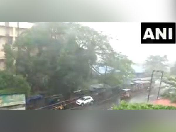 Visual of Kannur district as heavy rains affected several parts of Kerala. Photo/ANI